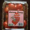 "Grape tomatoes in our clamshell package.  Our label is ""Jersey Gems."""